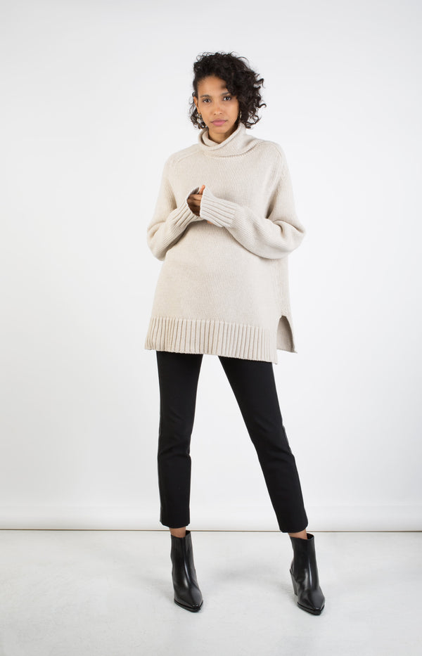 High Neck Pullover Sloppy Joe EcruJoseph - Anita Hass