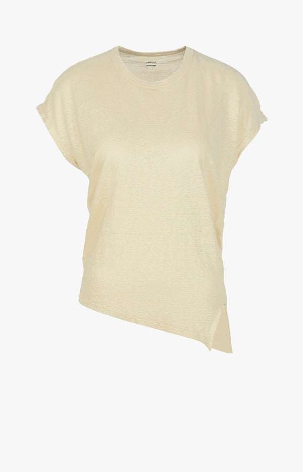 Asymmetrisches T-Shirt Kella Light YellowIsabel Marant Étoile - Anita Hass