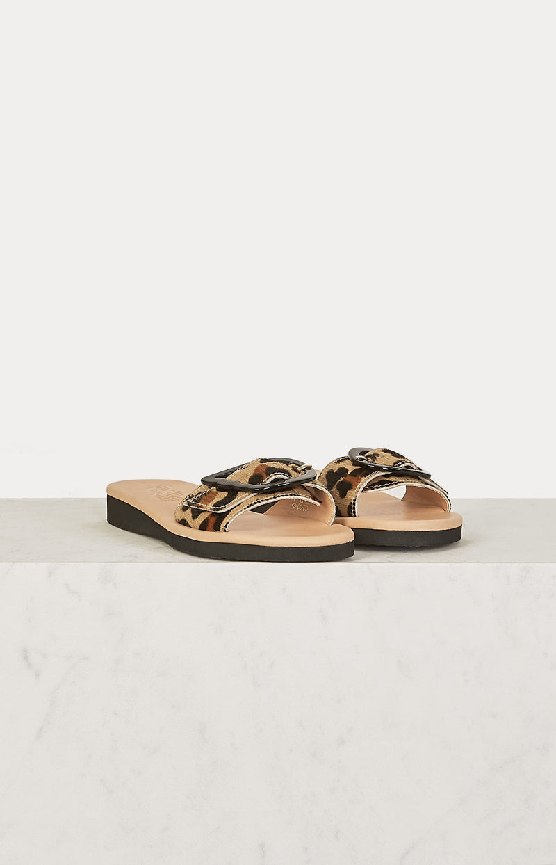 Sandale Aglaia Leopard aus FellAncient Greek Sandals - Anita Hass