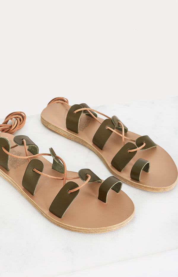 Sandale Alcyone KhakiAncient Greek Sandals - Anita Hass