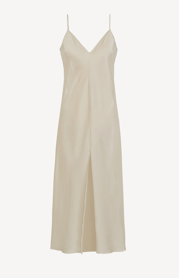 Slip Dress in White SandRotate - Anita Hass