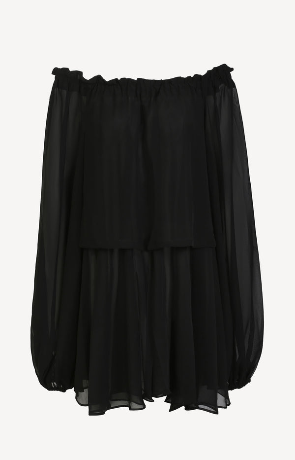 Off-Shoulder-Tunika Number 38 in SchwarzRotate - Anita Hass
