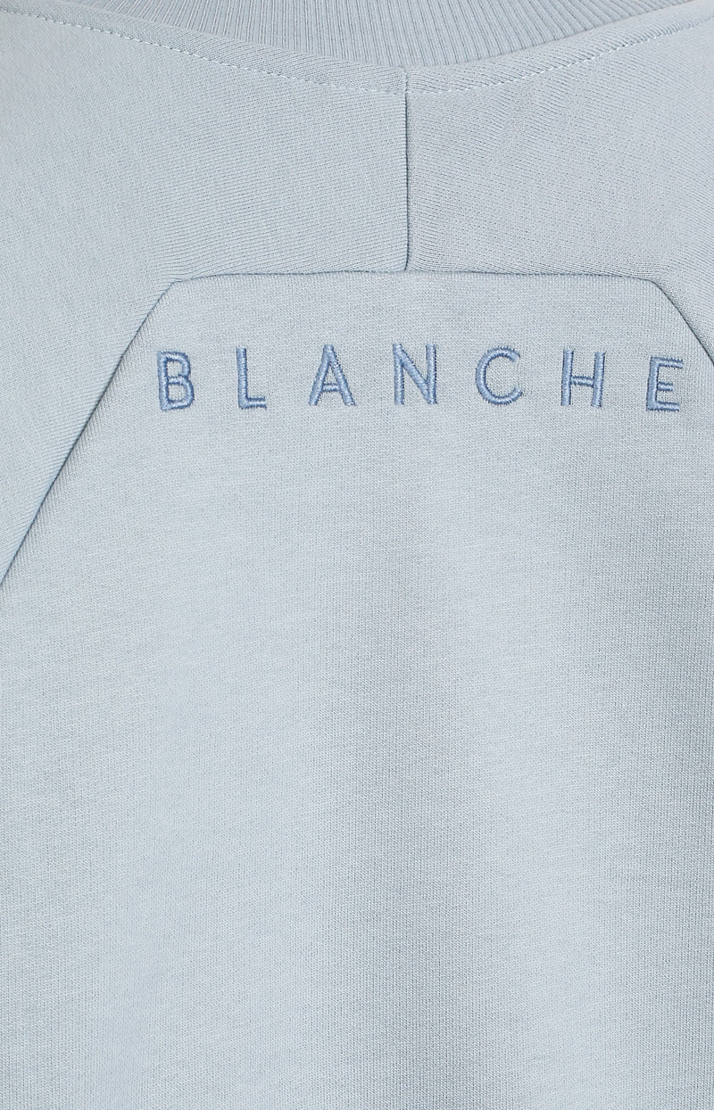 Sweatshirt Hella in Dusty BlueBlanche - Anita Hass