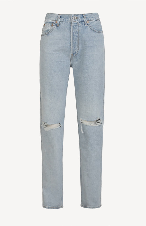 Jeans High Rise Loose in Bleach DestroyRE/DONE - Anita Hass
