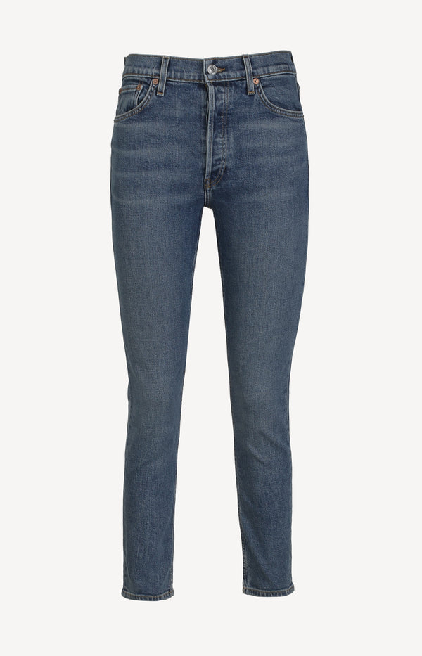 Jeans High Rise Ankle Crop in Mid 70sRE/DONE - Anita Hass
