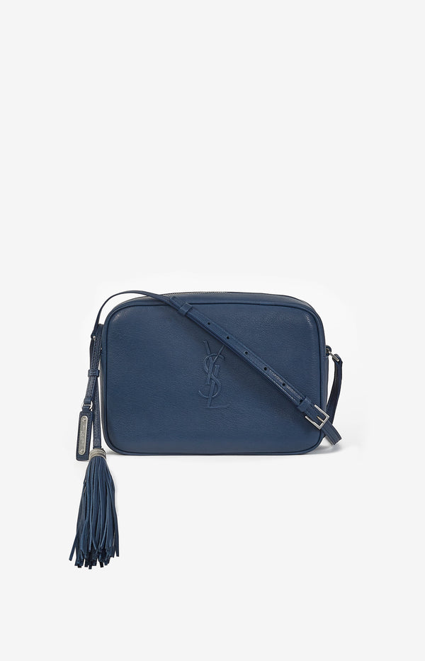 Crossbody Tasche Lou Satchel Denim BlueSaint Laurent - Anita Hass