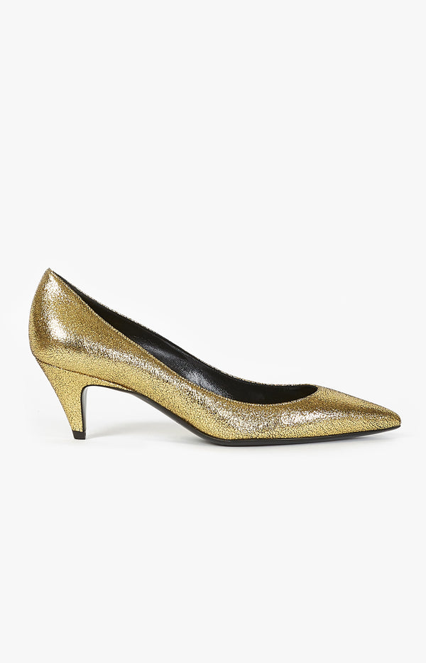 Pumps Charlotte 55 GoldSaint Laurent - Anita Hass