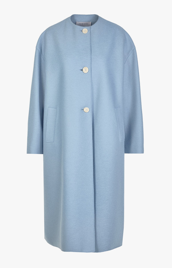 Mantel Long Oversized Spring Coat Baby BlueHarris Wharf London - Anita Hass