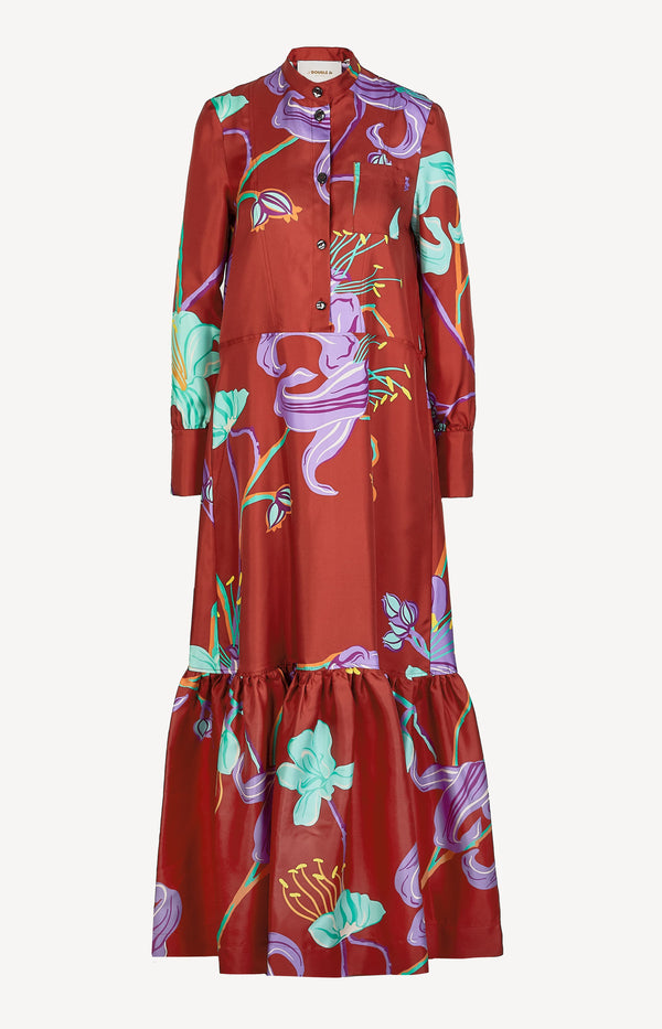 Maxi Shirt Dress Seide mit PrintLa Double J - Anita Hass