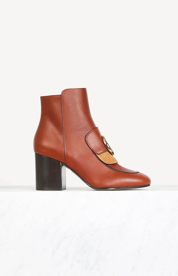 Ankle Boots Chloé C in Sepia BrownChloé - Anita Hass