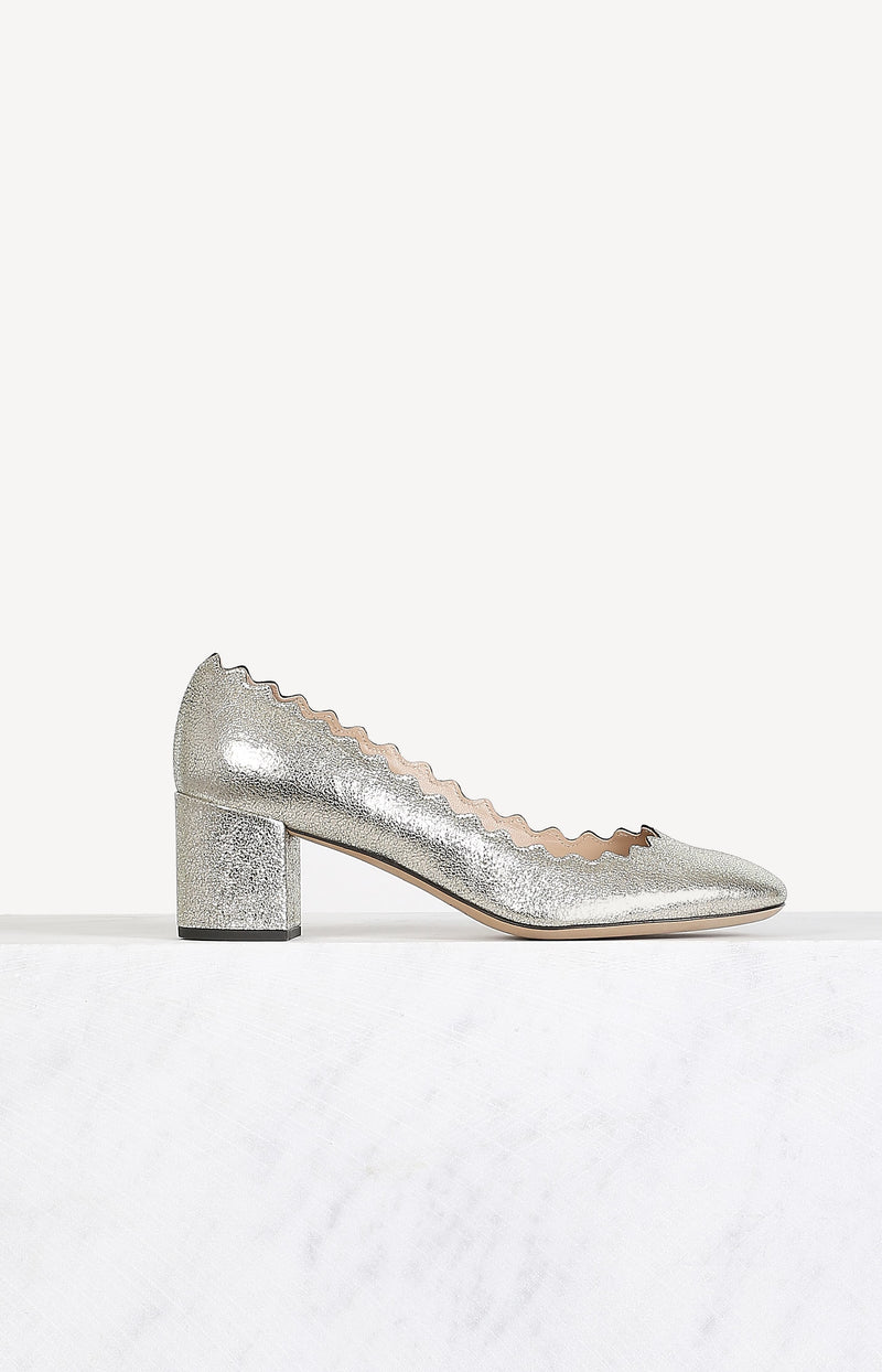 Pumps Lauren in Grey Glitter