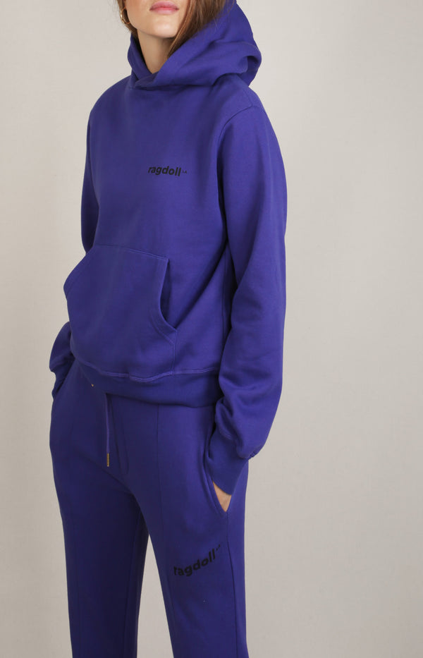 Pull On Hoodie in Dark PurpleRagdoll - Anita Hass
