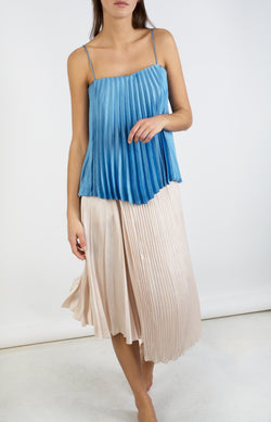 Camisole mit Plissees Blue PumiceVince - Anita Hass