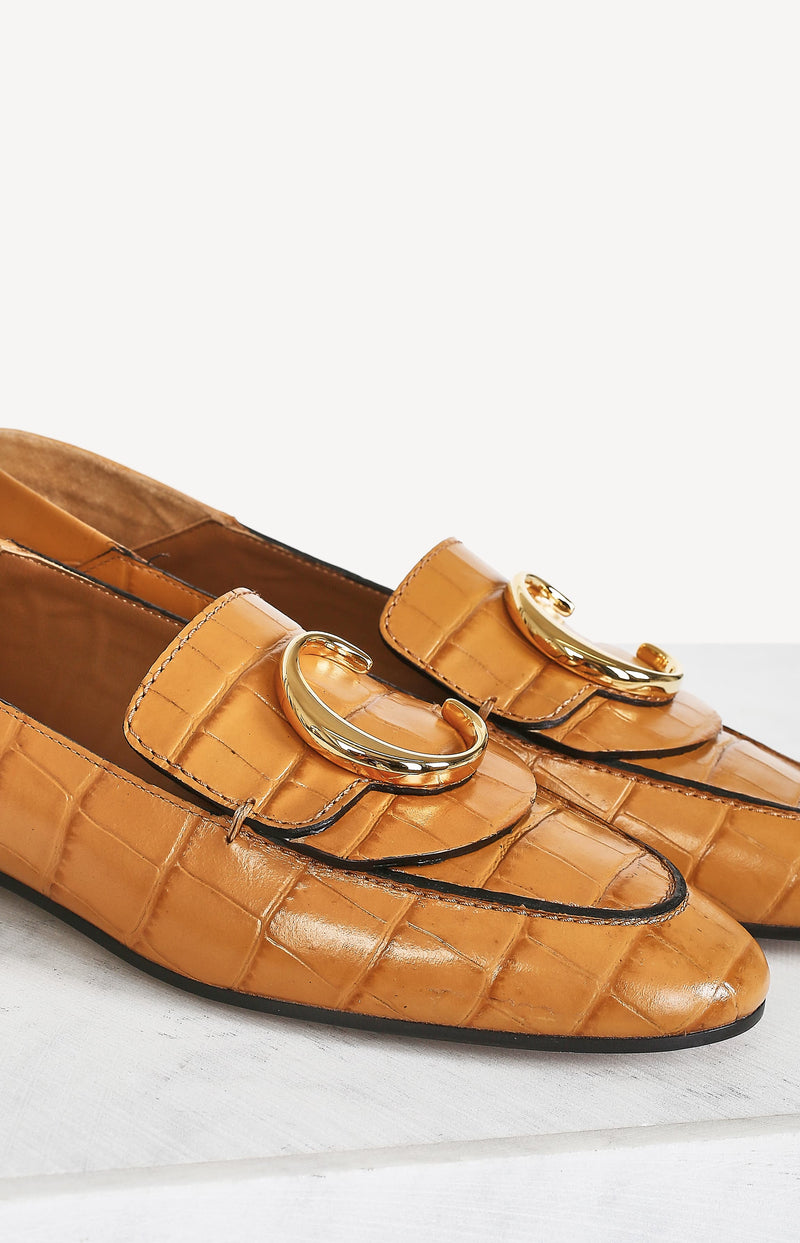 Loafer Chloé in Kroko-Optik in Autumnal BrownChloé - Anita Hass