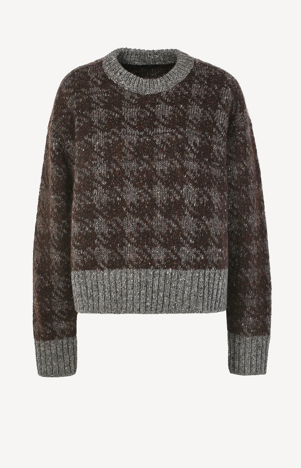 Grobstrick-Pullover Pied de Poule Brown ComboJoseph - Anita Hass