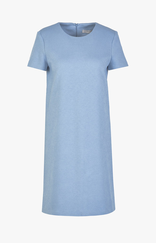 Shift Kleid Canvas mit kurzem Arm Baby BlueHarris Wharf London - Anita Hass