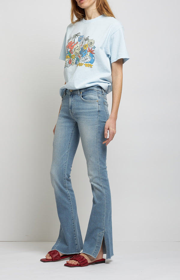 Jeans Bootcut Luxe Vintage Skywalk in Light Blue7 For All Mankind - Anita Hass