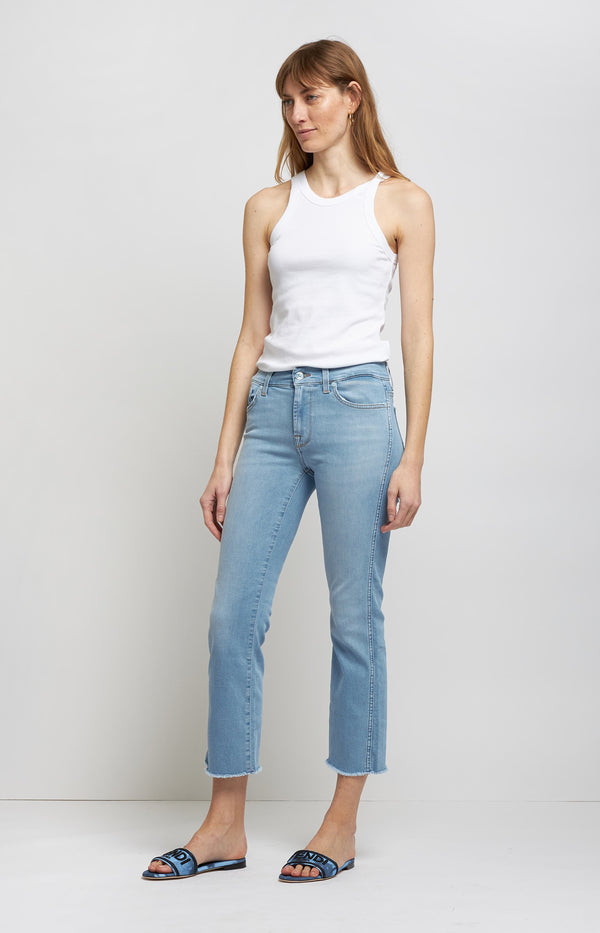 Jeans Cropped Boot Slim Illusion in Light Blue7 For All Mankind - Anita Hass