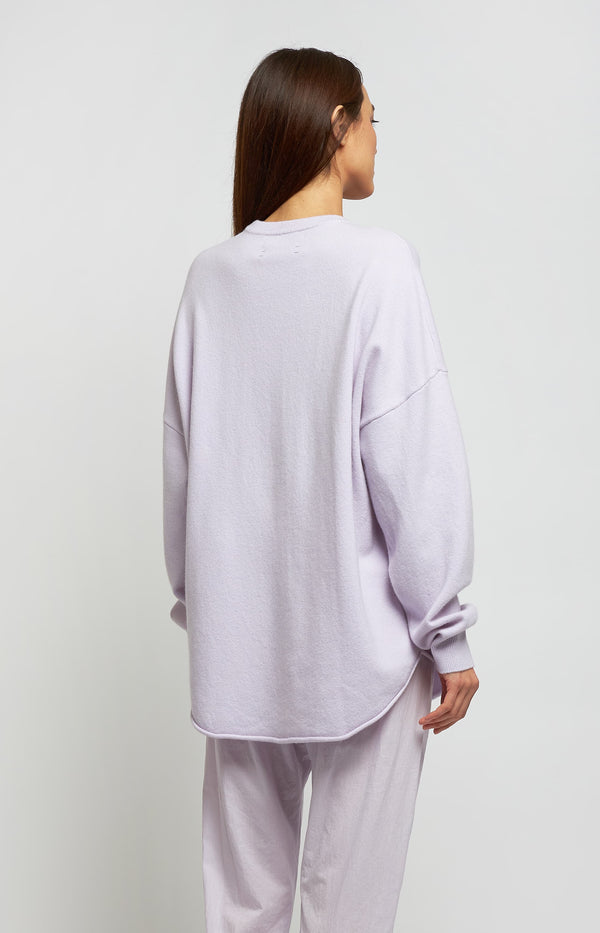 Pullover Crew Hop N° 53 in LavenderExtreme Cashmere - Anita Hass