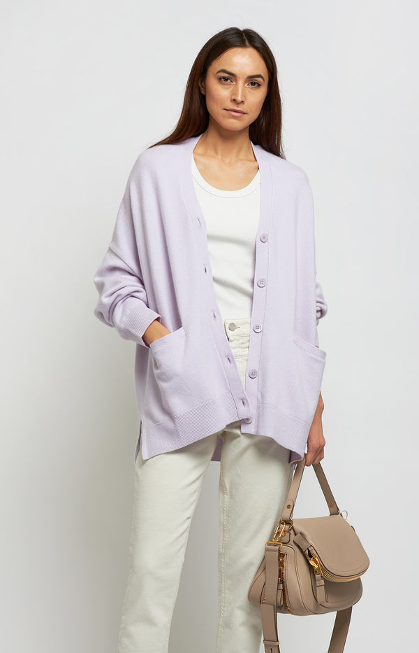 Cardigan Tokio N° 24 in LavenderExtreme Cashmere - Anita Hass