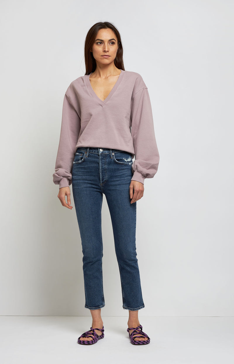Jeans Riley High Rise in PastimeAgolde - Anita Hass