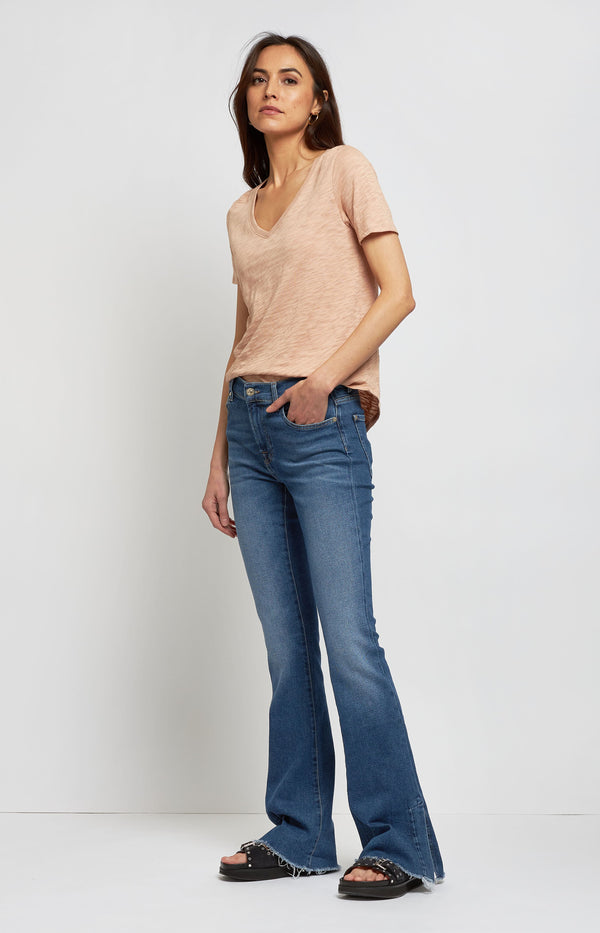 Jeans Bootcut Luxe Pacific Grove in Mid Blue7 For All Mankind - Anita Hass