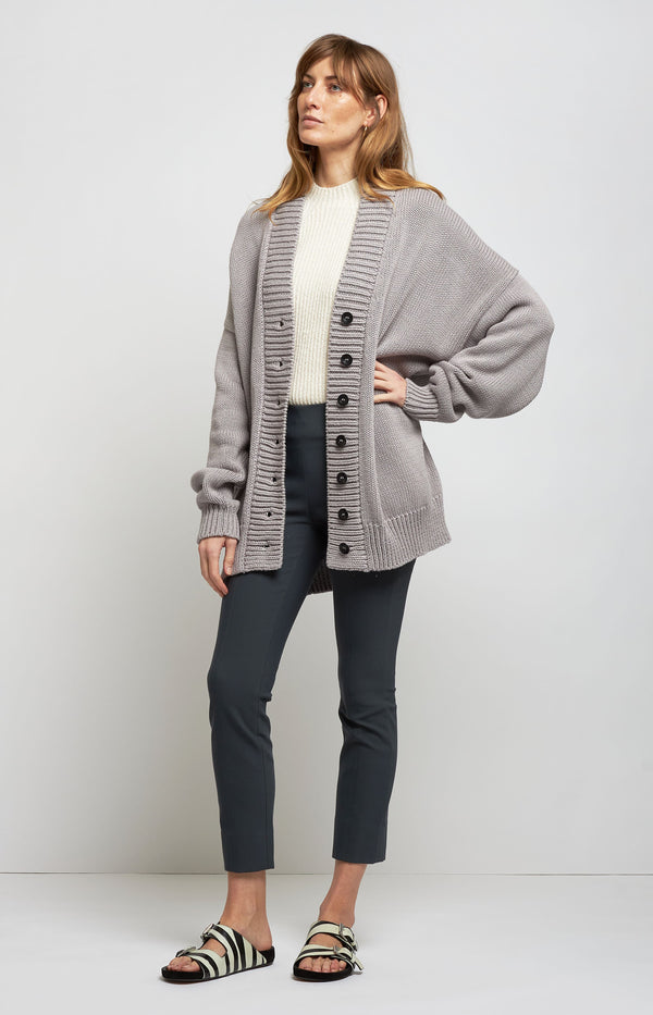 Cardigan Chunky V Neck in Stone GreyI Love Mr Mittens - Anita Hass