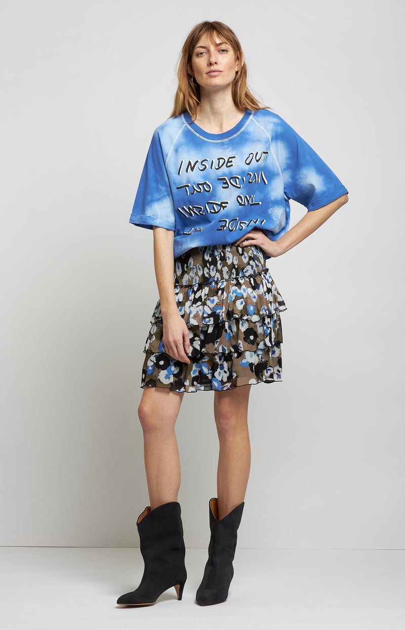 T-Shirt Inbar in Blue SplashLala Berlin - Anita Hass
