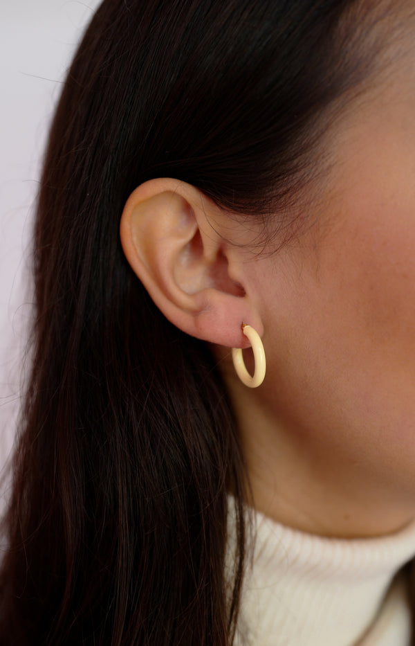 Medium Hoops in Butter YellowNina Kastens Jewelry - Anita Hass