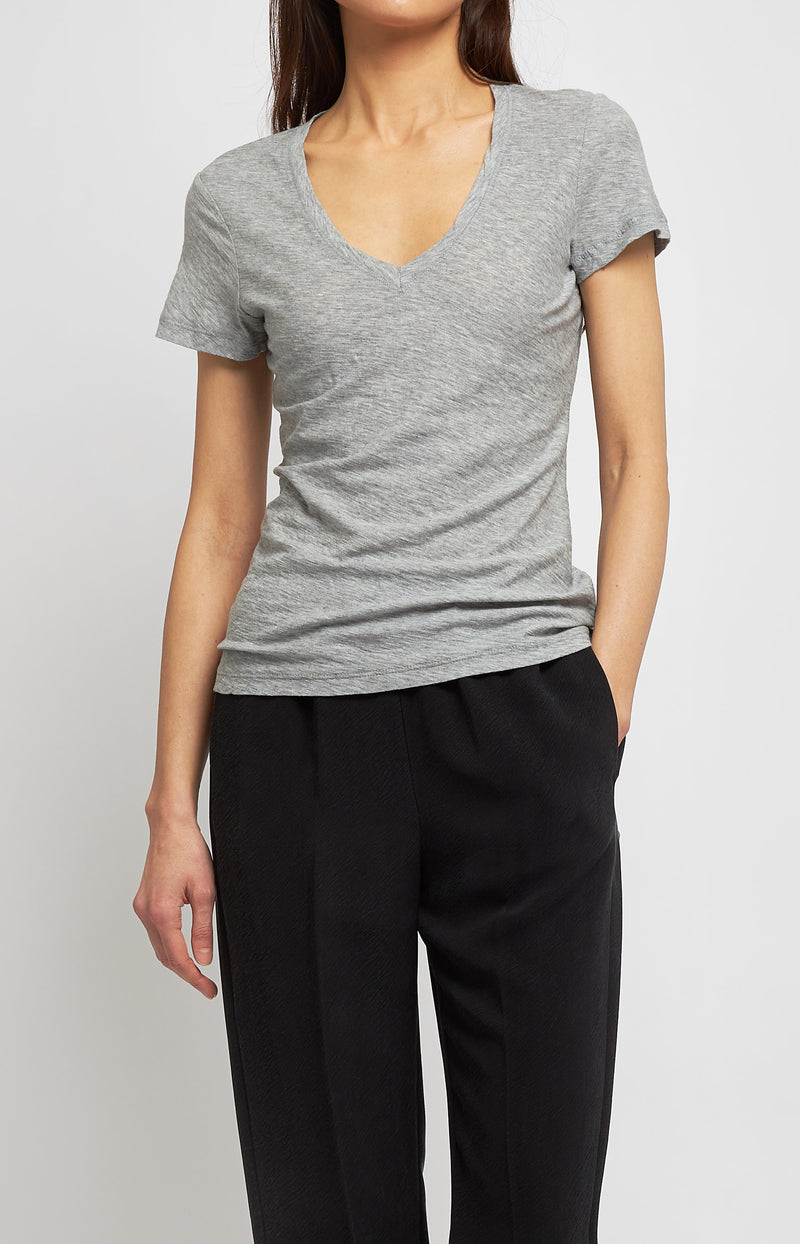 T-Shirt Casual in Heather GreyJames Perse - Anita Hass