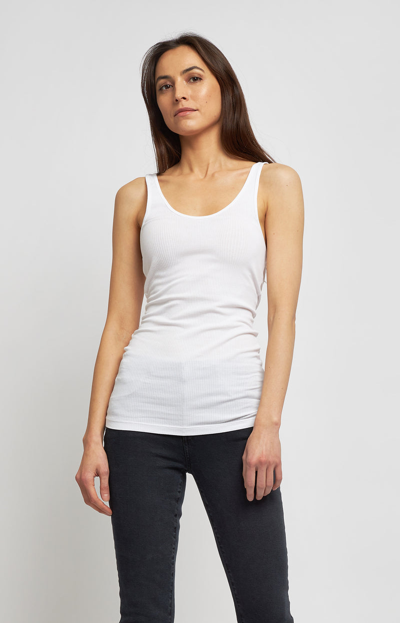 Tanktop The Daily Tank in WeißJames Perse - Anita Hass