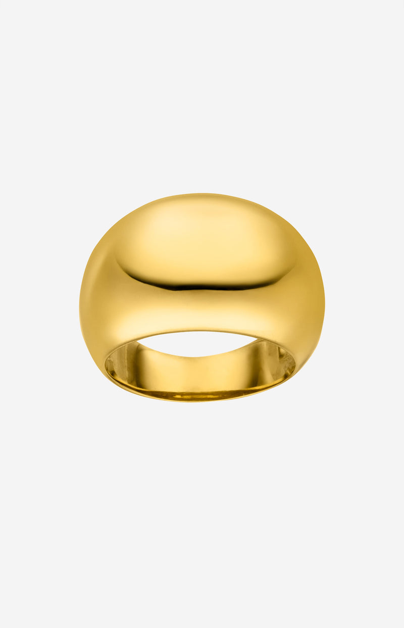 Large Chunky Ring GoldNina Kastens Jewelry - Anita Hass