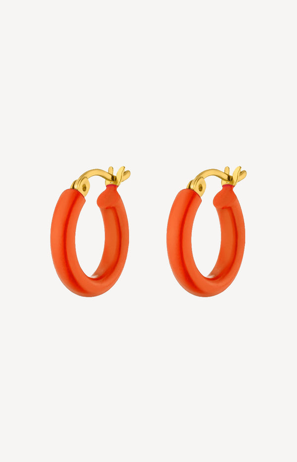 Small Hoops in CoralNina Kastens Jewelry - Anita Hass