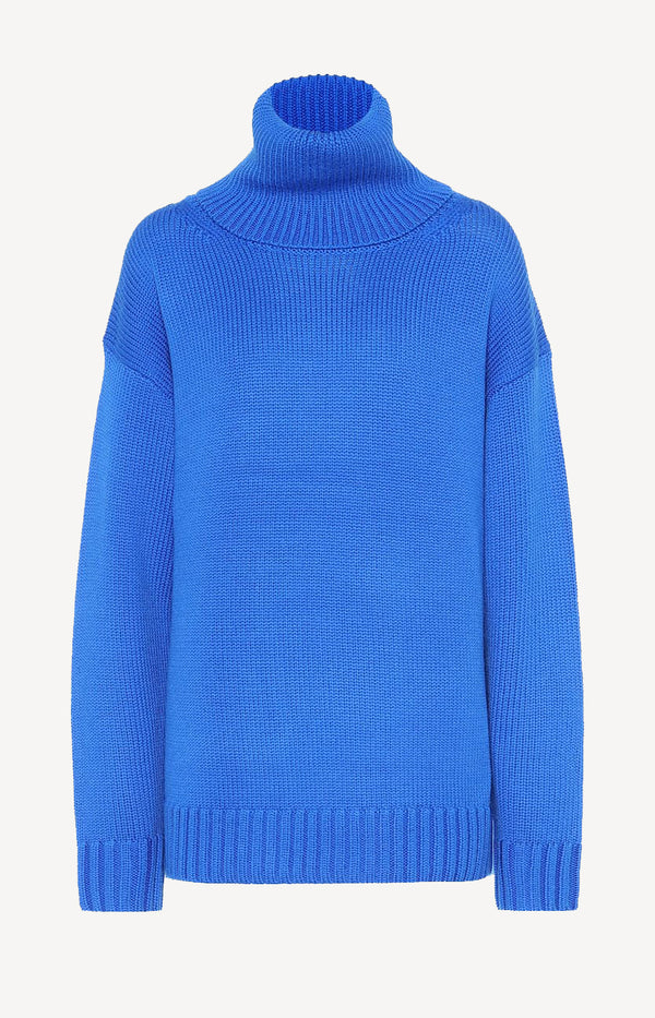 High Neck Pullover Sloppy Joe Plastic BlueJoseph - Anita Hass