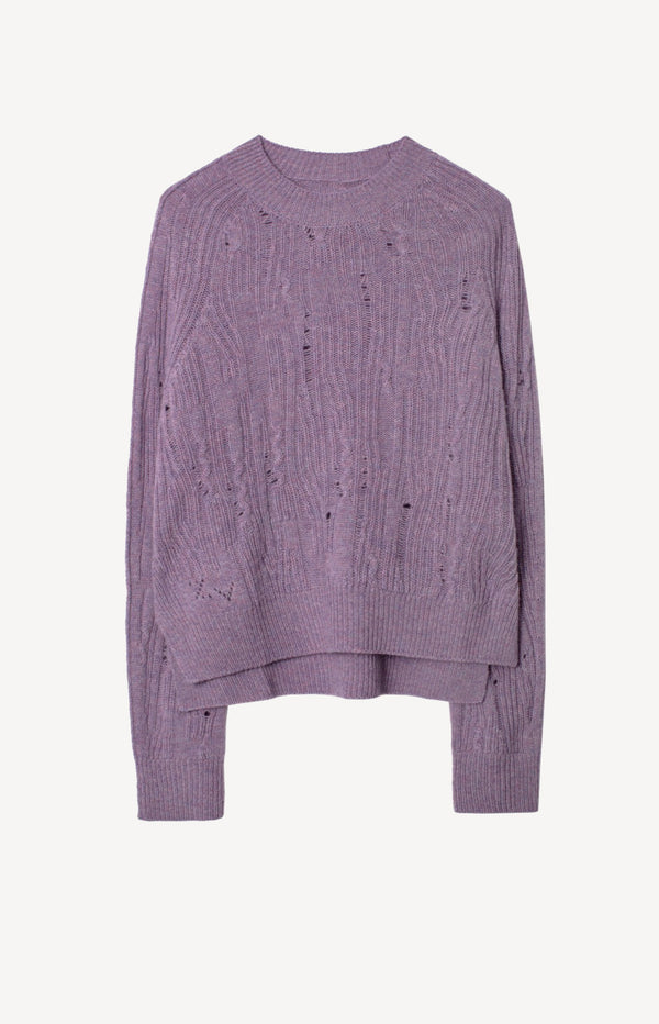 Pullover Lili C Destroy in MauveZadig & Voltaire - Anita Hass