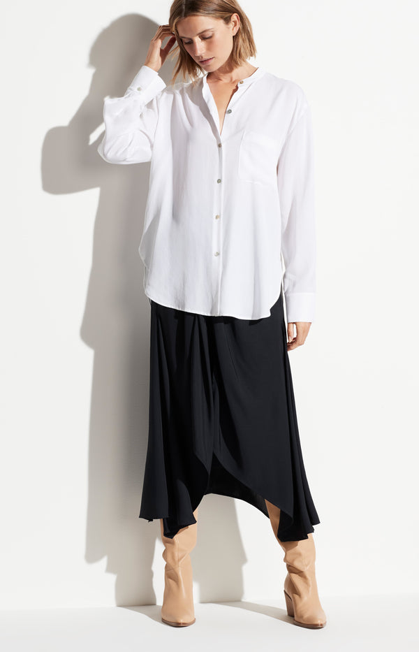 Bluse Relaxed Band Collar in WeißVince - Anita Hass