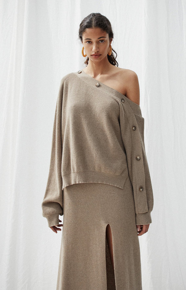 Off-Shoulder Pullover Camerin in TaupeNanushka - Anita Hass
