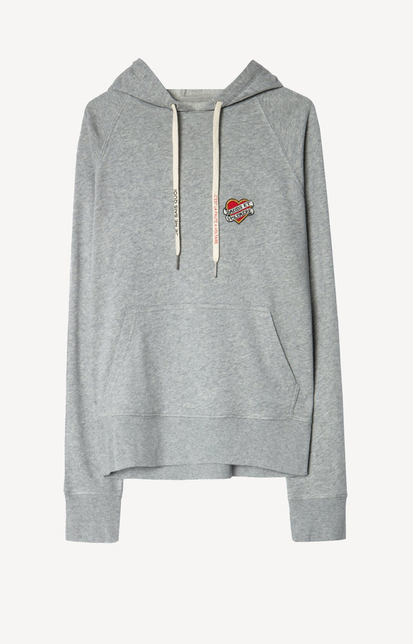 Hoodie Clipper Small Heart in GrauZadig & Voltaire - Anita Hass