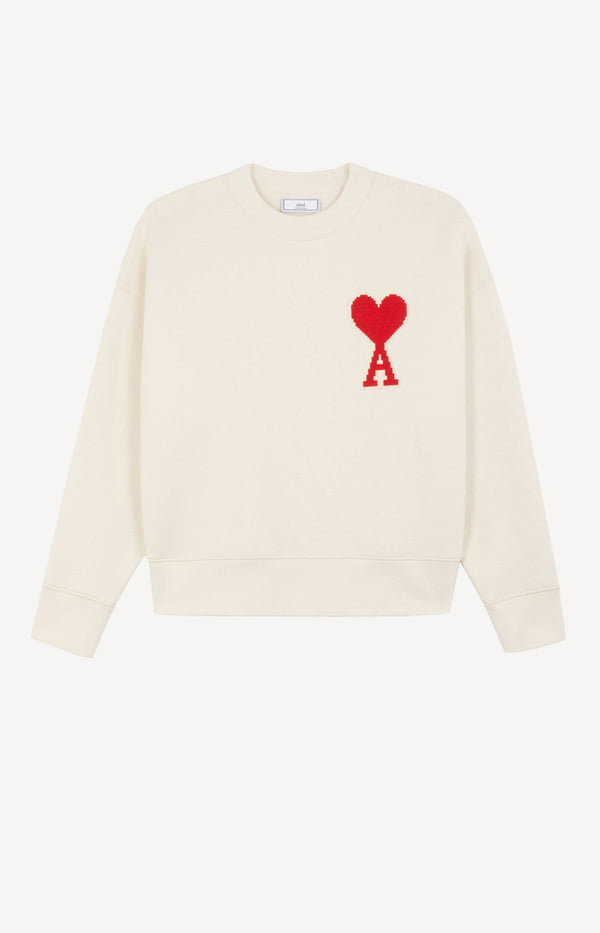 Sweatshirt mit Ami de Coeur Print in Off-WhiteAMI Paris - Anita Hass