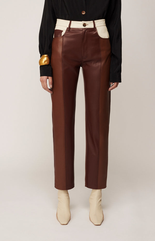 Hose Vinni in Brown PatchNanushka - Anita Hass