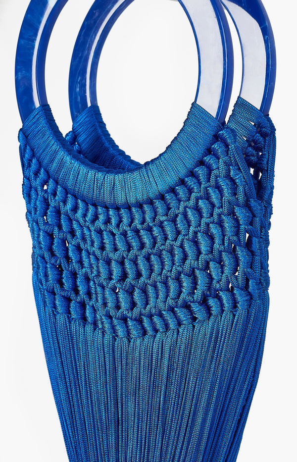 Tassel Bag Angelou Small CobaltCult Gaia - Anita Hass