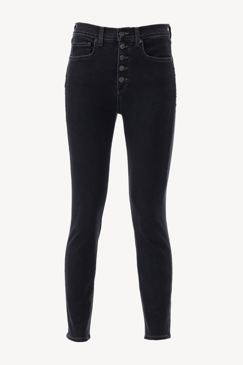 Jeans Debbie High Rise Ankle in Salt & Pepper