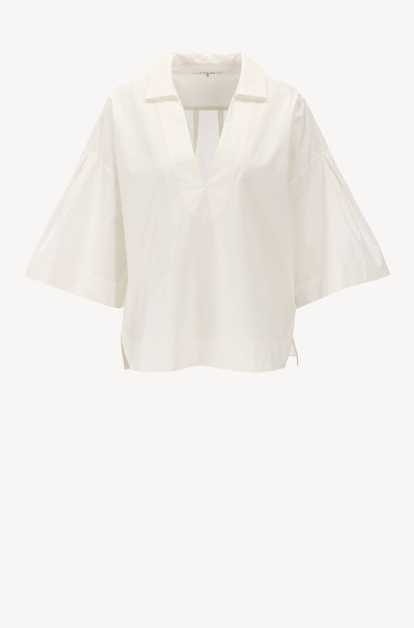 Bluse Channing Popover in Blanc