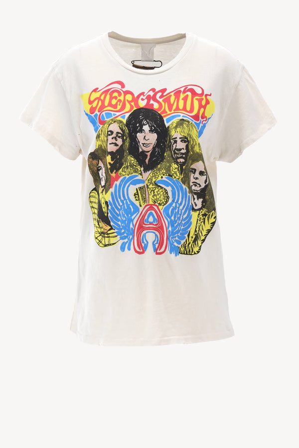 T-Shirt Aerosmith in Off-White