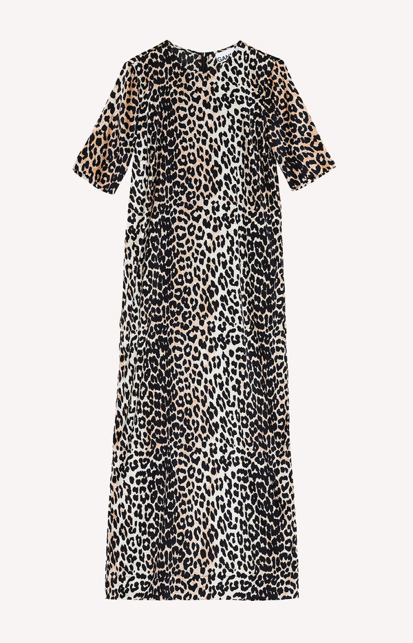 Langes Shift-Kleid in LeopardGanni - Anita Hass