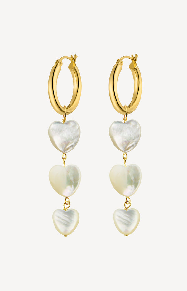 Ohrringe Multiple Heart HoopsNina Kastens Jewelry - Anita Hass