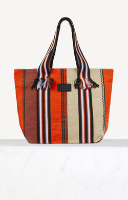 Tasche Big Tote Aby in Natural Stripes MultiLala Berlin - Anita Hass