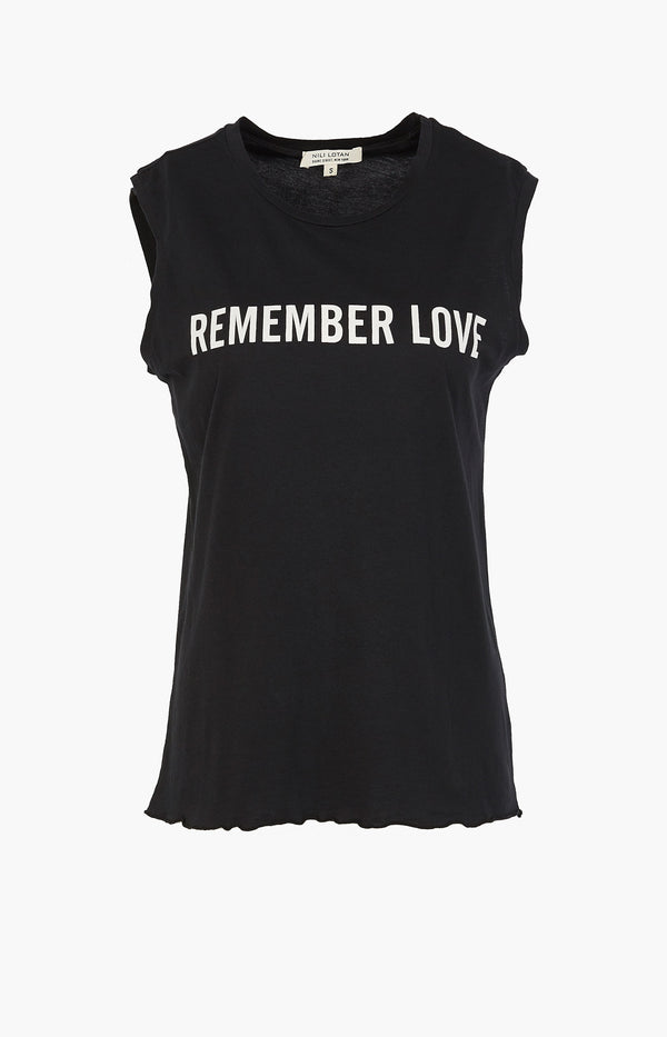 T-Shirt Remember Love Muscle Tee SchwarzNili Lotan - Anita Hass