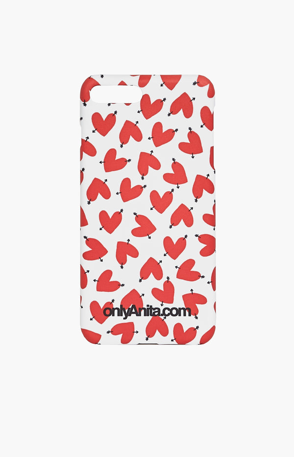 iPhone 8/8Plus/X White Case HeartsAnita Hass - Anita Hass