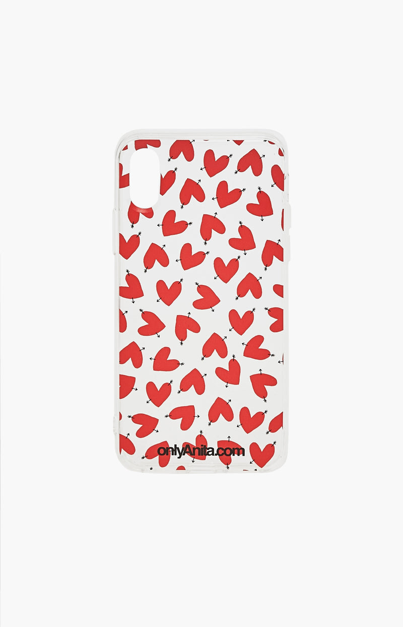 iPhone 8/8Plus/X Transparent Case HeartsAnita Hass - Anita Hass